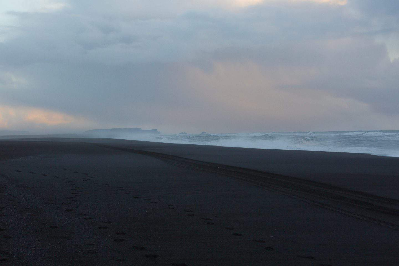 Iceland's iconic black sand beach Reynisfjara