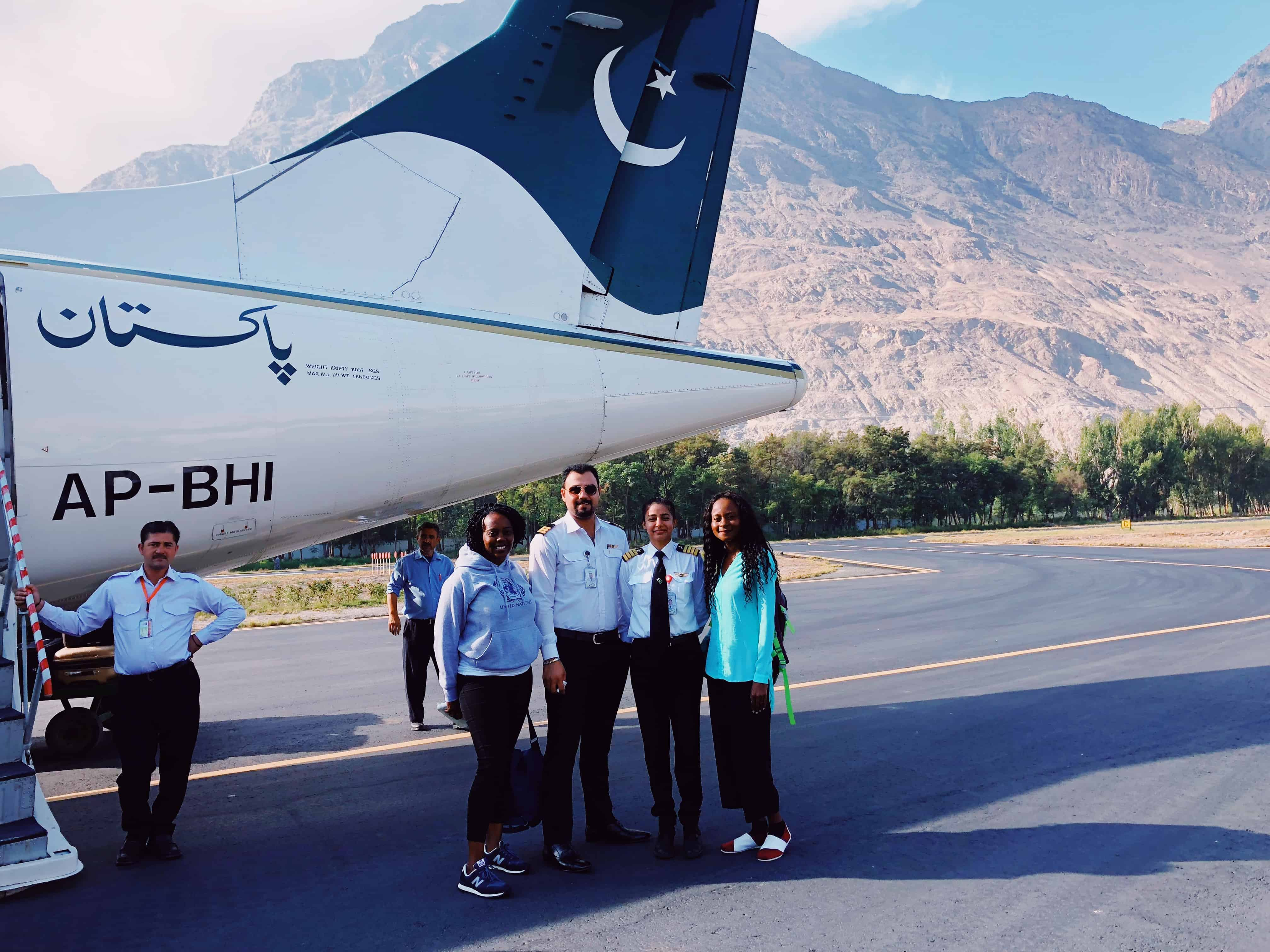Gilgit airport, Hunza Valley northern Pakistan
