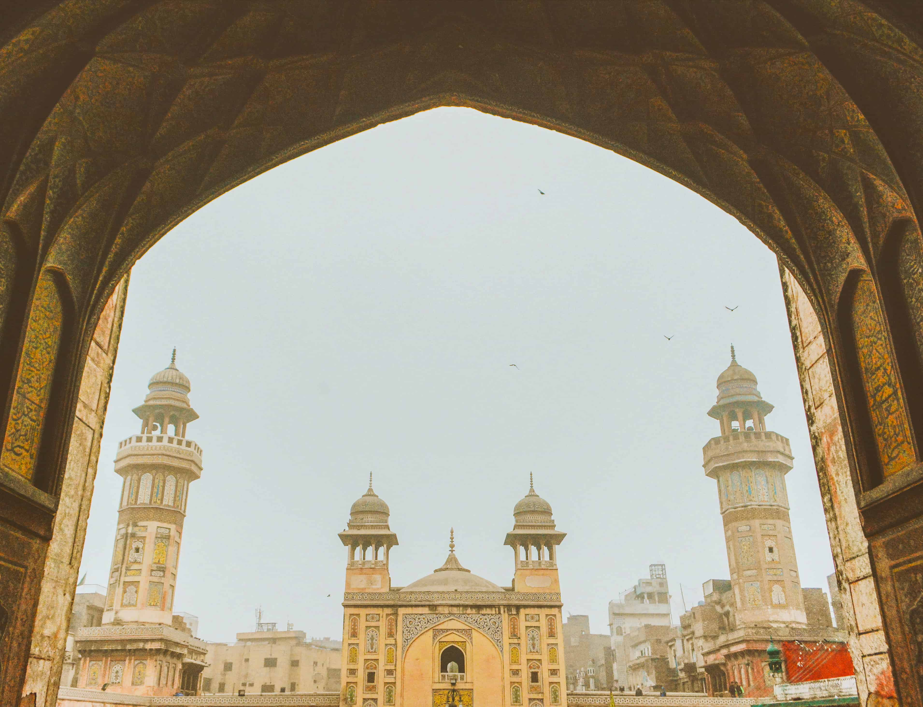 View of the Wazir Khan mosque in Lahore Old City