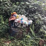 Trash collection on the trail in Pokhara