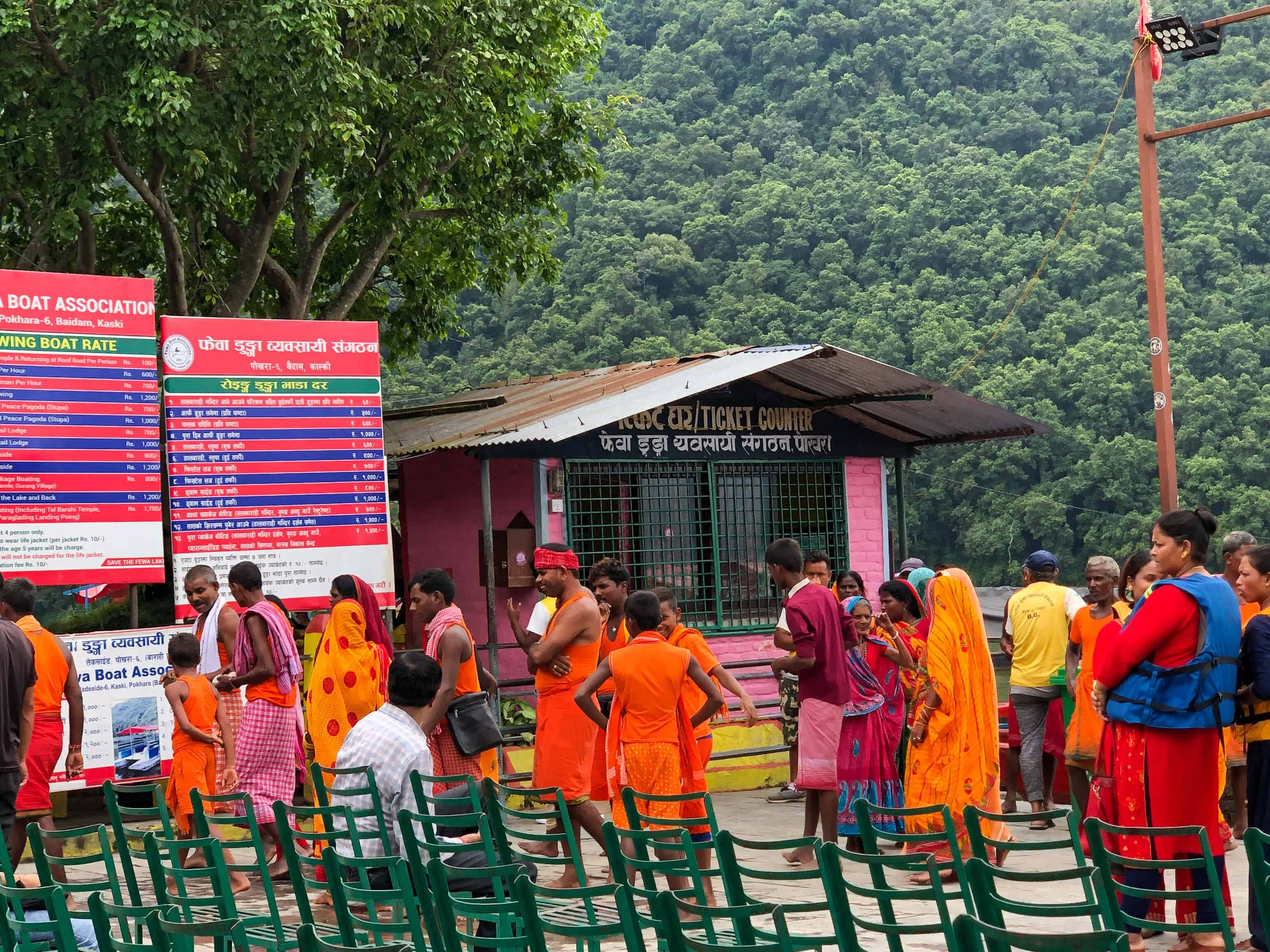 Locals attending a festival in Pokhara
