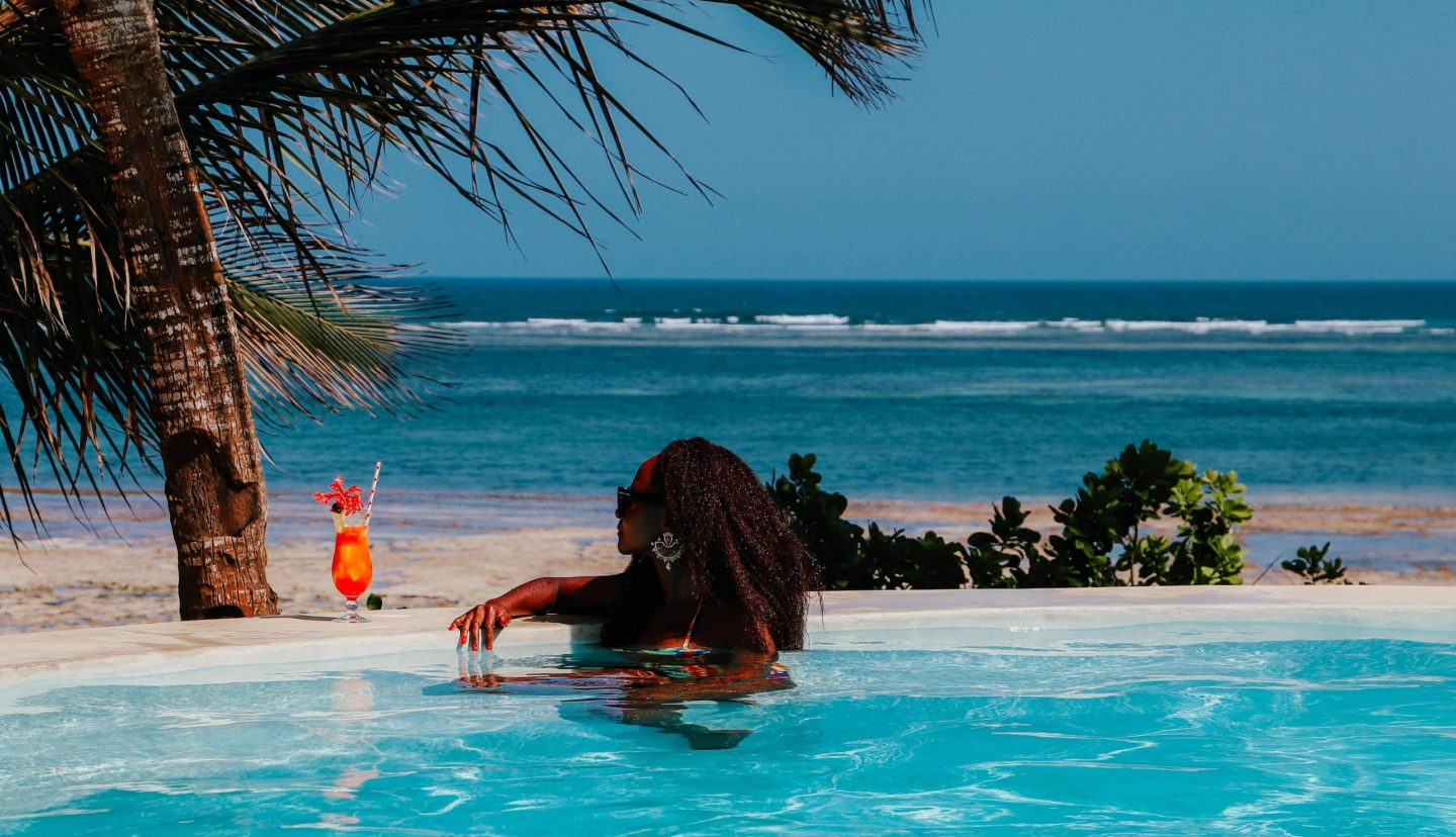 The pool at Swahili Beach Resort, Diana Beach Kenya