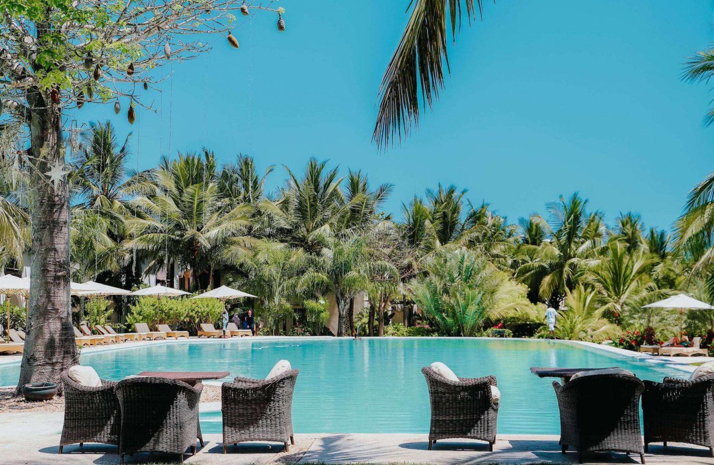 pool at the Swahili beach resort