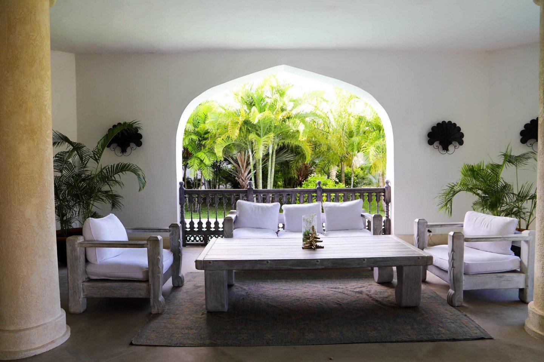 the lobby at Swahili beach resort