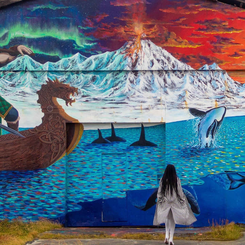 Hellissandur graffiti town