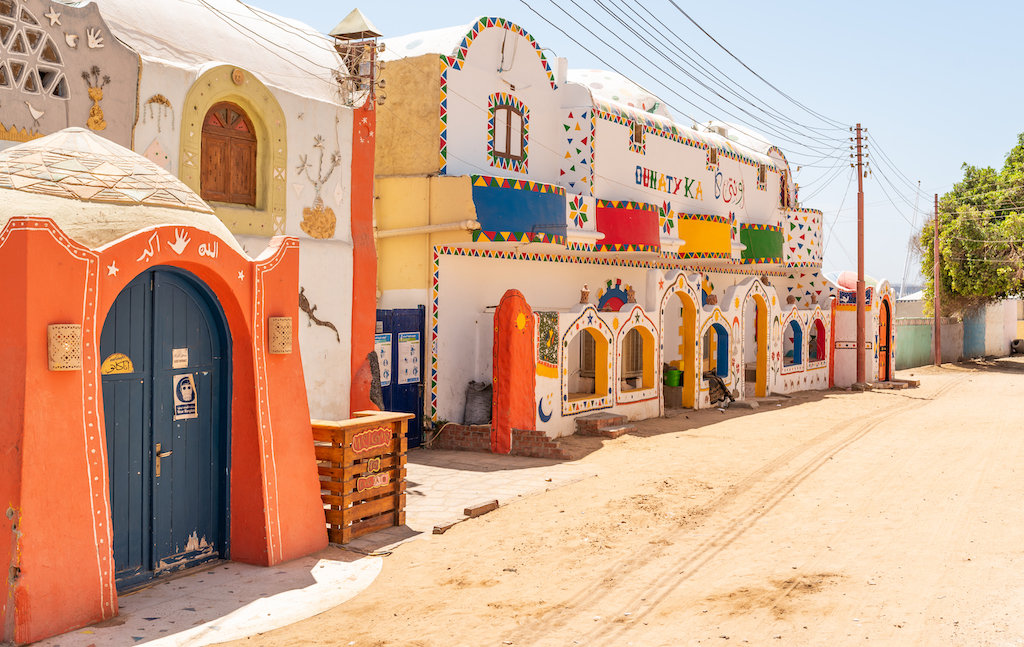 Nubian village on the bank of the river Nile