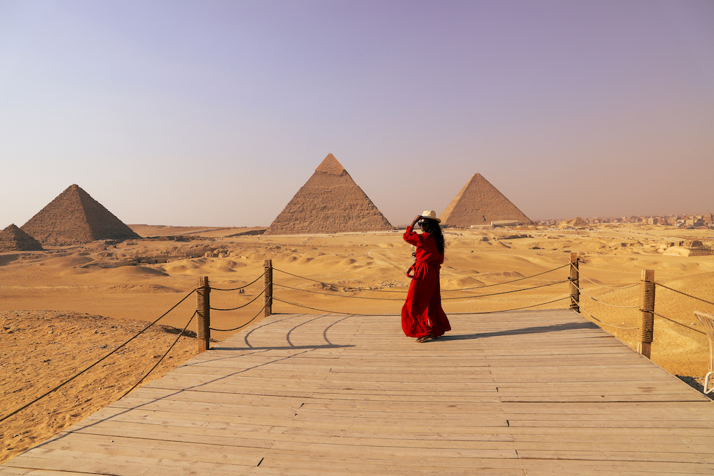 the Pyramids of Giza. After all, they are the most famous of the seven wonders of the world